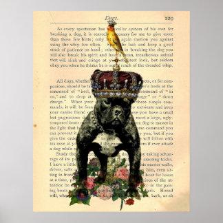 Het vintage Poster van de Koning van de Buldog van