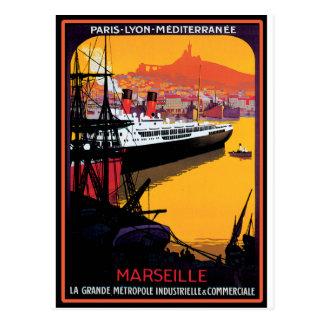 Het vintage Poster van de Reis: Briefkaart
