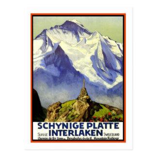 Het vintage Poster van de Reis, Interlaken Briefkaart