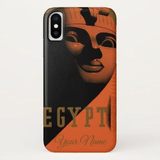 Het vintage Poster van de Reis met Sfinx, Egypte, iPhone X Hoesje