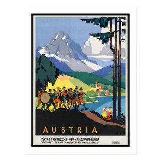 Het vintage Poster van de Reis, Oostenrijk Briefkaart