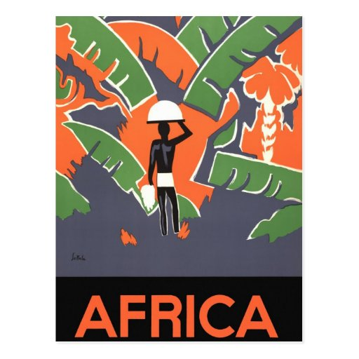 Het vintage poster van de reis van het art deco a wenskaart zazzle - Deco van het appartement ...