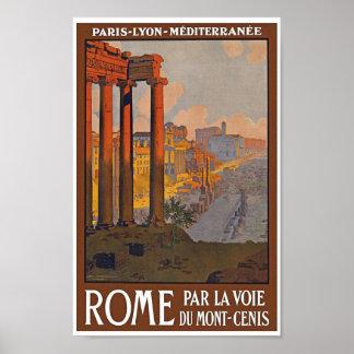 Het vintage Poster van de Reis van Rome