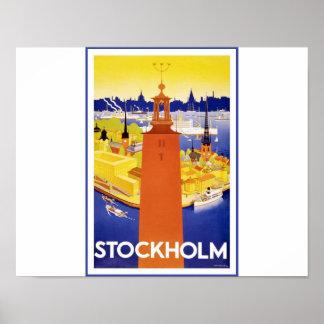 Het vintage Poster van de Reis van Stockholm