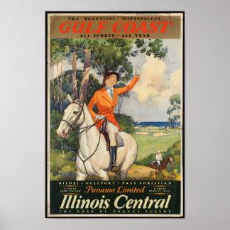 Het vintage Poster van de Reis voor de Mississippi