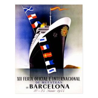 Het vintage Poster van de Reis voor het Briefkaart