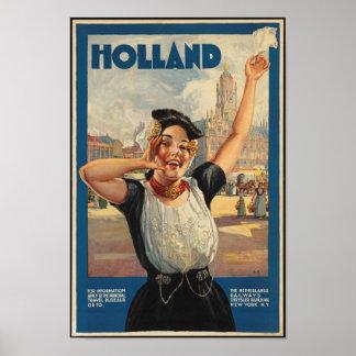 Het vintage Poster van de Reis voor Holland