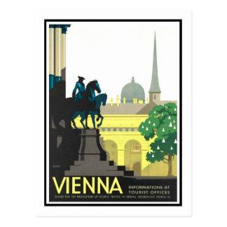 Het vintage Poster van de Reis, Wenen Briefkaart