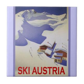Het vintage Poster van de Ski, Ski Oostenrijk Tegeltje