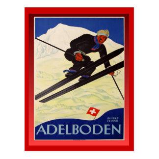 Het vintage Poster van de Ski, Zwitserland, Briefkaart