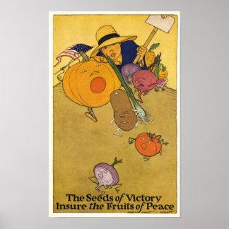 Het vintage Poster van de Tuin van de Overwinning