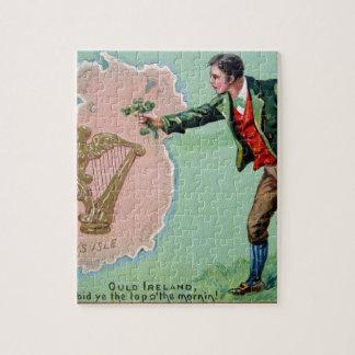 Het vintage poster van het de dag erin eiland van legpuzzel