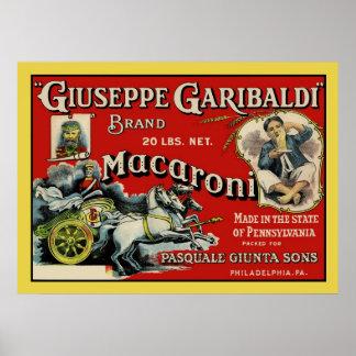 Het vintage Poster van het Etiket van de Macaroni