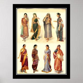 Het Vintage Poster van India van de mode
