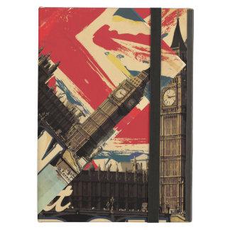Het vintage poster van Londen van het Bezoek iPad Air Hoesje