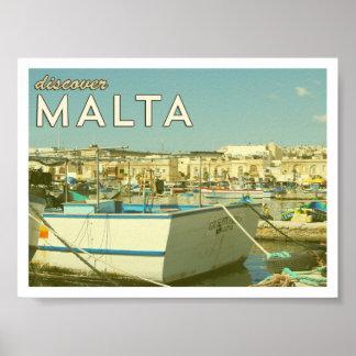 Het vintage Poster van Malta