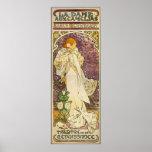 Het Vintage Poster van Mucha: Dame aux Camélias