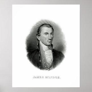 Het vintage President James Monroe van de Gravure Poster