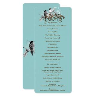 Het vintage Programma van het Huwelijk van de 10,2x23,5 Uitnodiging Kaart