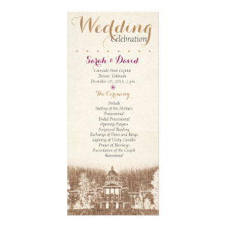 Het vintage Programma van het Huwelijk van de 10,2x 22,9 Cm Reclamekaart