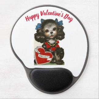 Het vintage Puppy van Valentijn Gel Muismat