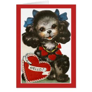Het vintage Puppy van Valentijn Kaart