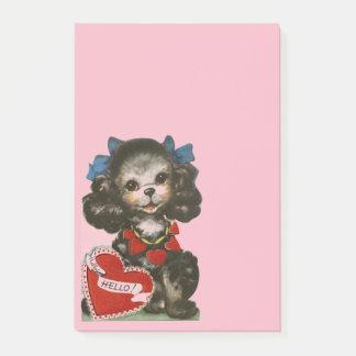 Het vintage Puppy van Valentijn Post-it® Notes