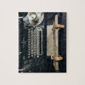 Het vintage Raadsel van de Schrijfmachine Foto Puzzels