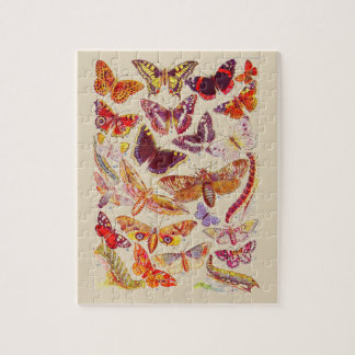 Het vintage Raadsel van het Boekmerk van Vlinders Puzzel