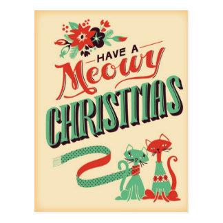 Het vintage Retro Briefkaart van Kerstmis