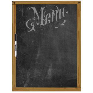 Het vintage Retro Menu van de Typografie van het Whiteboard