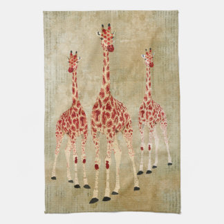 Het vintage Rood nam de Handdoek van Giraffen toe