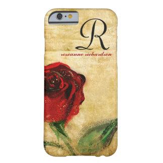 Het vintage Rood nam iPhone 6 van het Monogram hoe