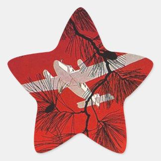 Het vintage Rood van de Steun FW van het Vliegtuig Stervormige Stickers