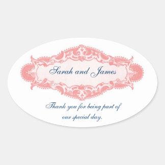 Het vintage Roze Blauw dankt u de Stickers van het