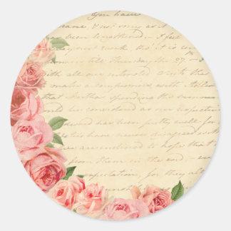 Het vintage roze nam mooi en girly sticker toe