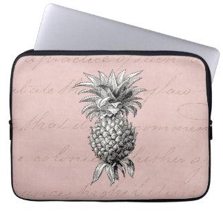 Het vintage Roze van de Illustratie van de Ananas Laptop Sleeve