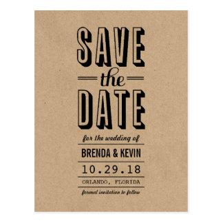 Het vintage Rustieke Huwelijk bewaart het Briefkaart