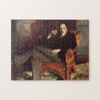 Het vintage Schilderen van Robert Louis Stevenson Legpuzzel