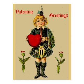 Het vintage Schotse Briefkaart van Valentijn:
