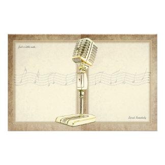 Het vintage Schrijfpapier van de Microfoon Briefpapier