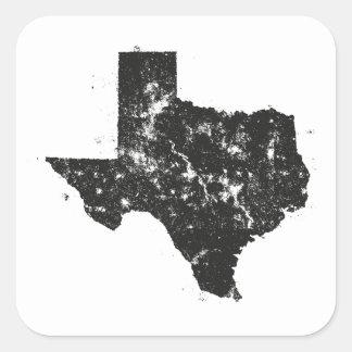 Het vintage Silhouet van de Kaart van de Staat van Vierkante Sticker