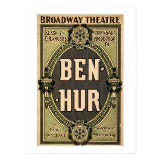 Het vintage Spel van Ben Hur van het Theater Briefkaart