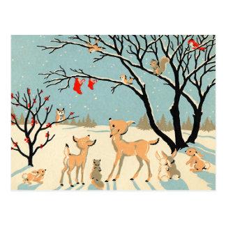 Het vintage Sprookjesland van de Winter Briefkaart