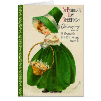 Het vintage St. Patrick Wenskaart van de Dag