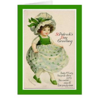 Het vintage St. Patrick Wenskaart van de Danser
