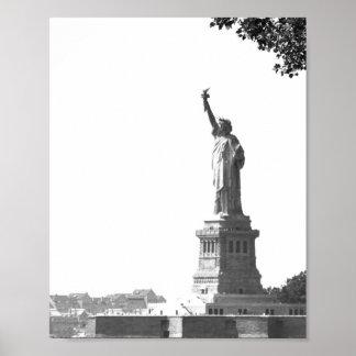 Het vintage Standbeeld van de Stad van New York Poster