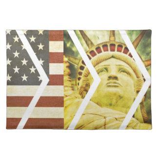 Het vintage Standbeeld van de Vlag van de V.S. van Placemat