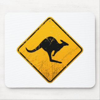 Het Vintage Teken van de kangoeroe Muismat
