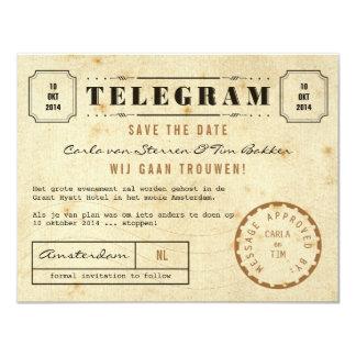 Het vintage Telegram bewaart de Datum Kaart